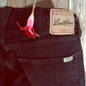 Levi Strauss black stretch bootcut Jeans Misses 8